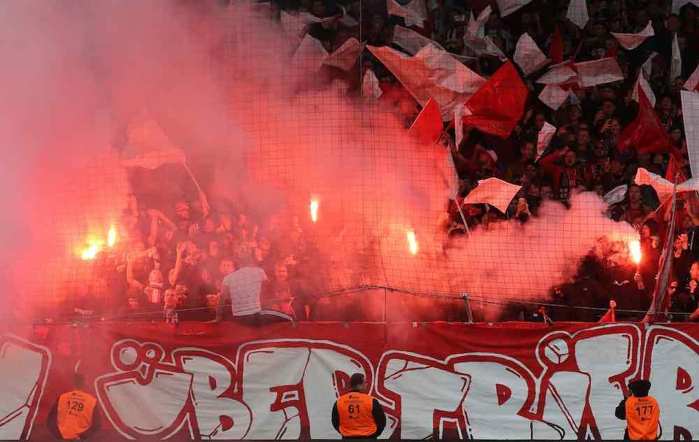 Union Berlin Fans Pyro