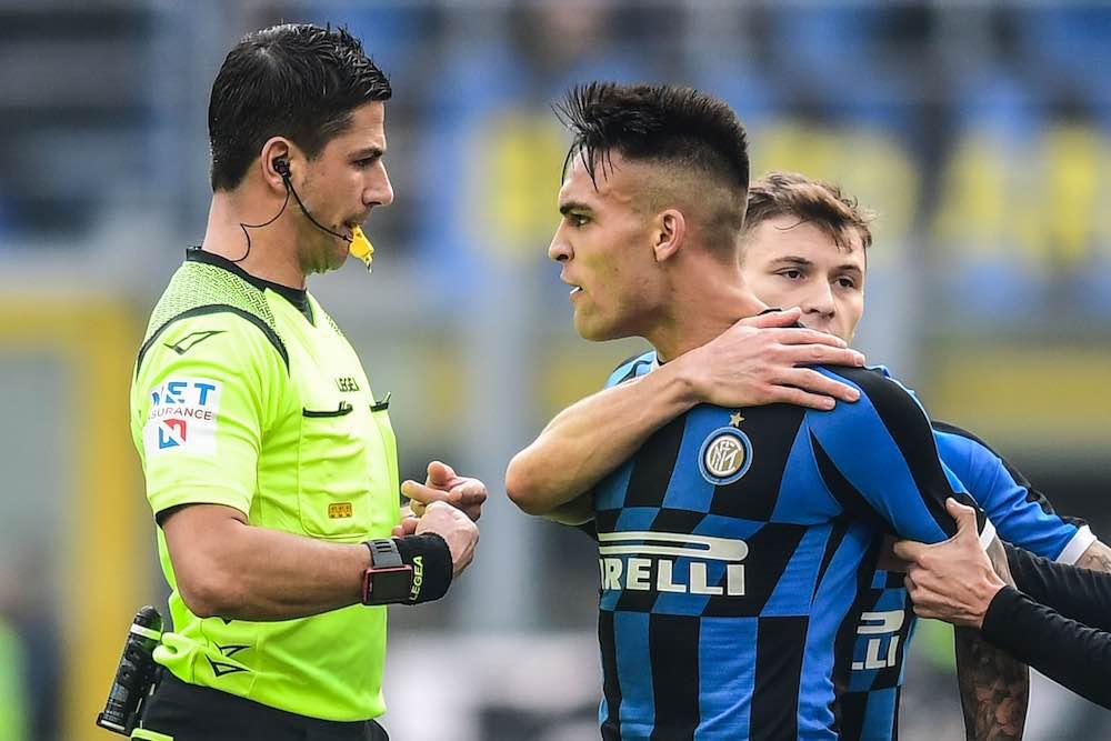 Lautaro Martinez Inter Referee