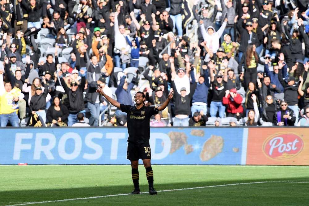 Carlos Vela Celebrates LAFC vs Inter Miami