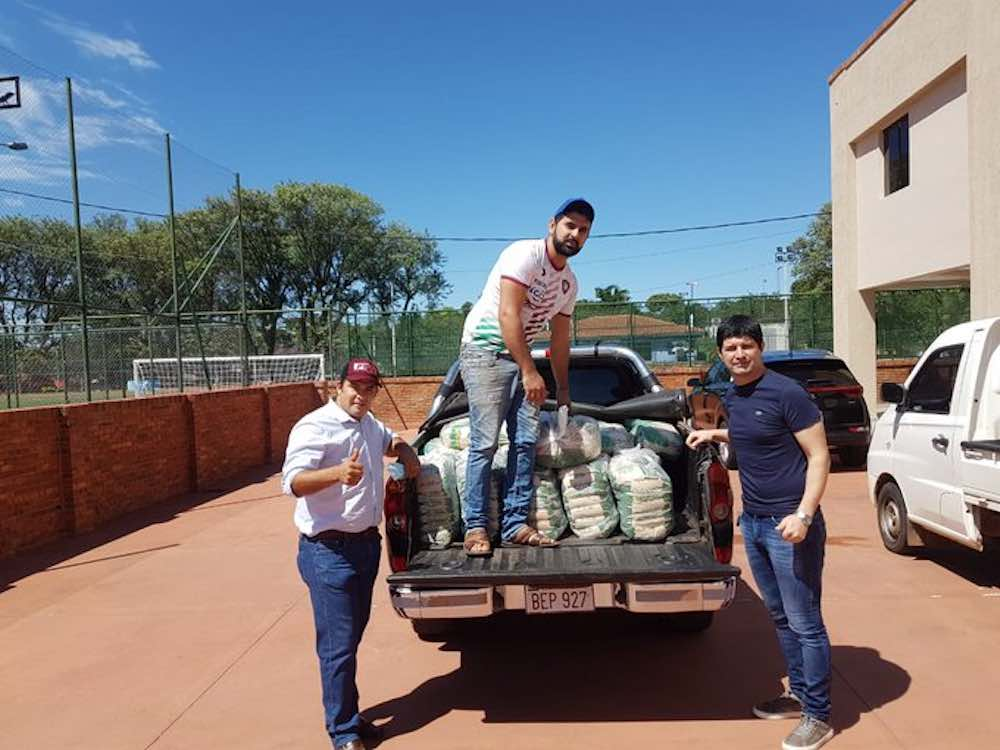 Paraguayan Club Atlético Tembetary Donate Food Parcels To Local Community