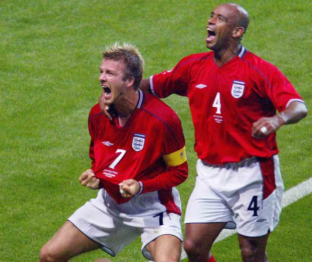 David Beckham Trevor Sinclair 2002 World Cup England