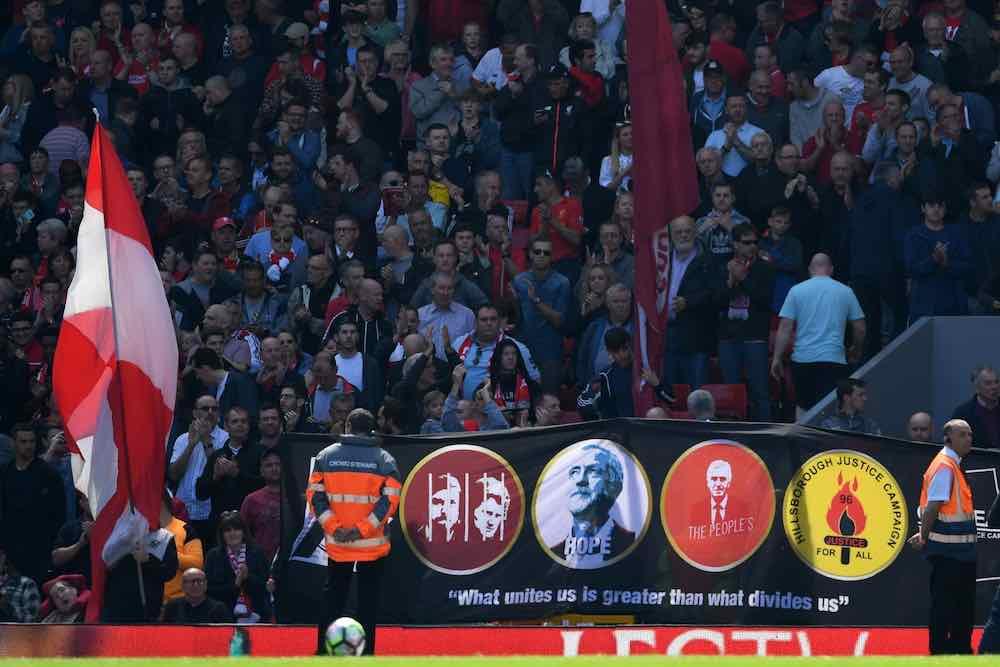 Jeremy Corbyn Liverpool Banner Kop