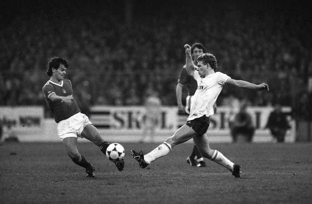 Micky Hazard Steve Hodge Tottenham Spurs v Forest
