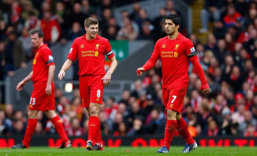 Carragher Gerrard Suarez Liverpool