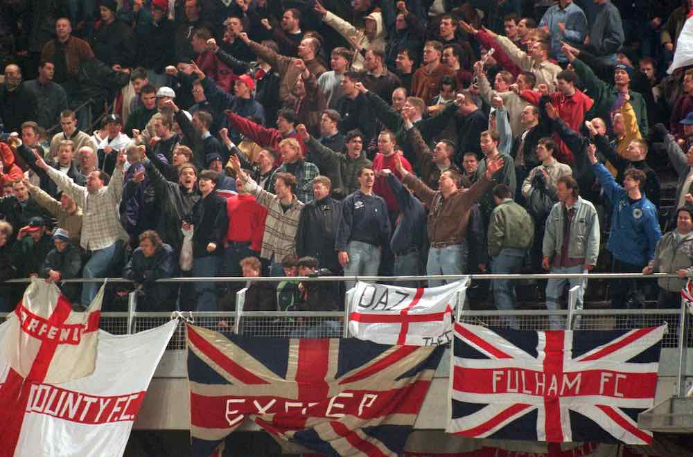England Fans Nazi Salutes