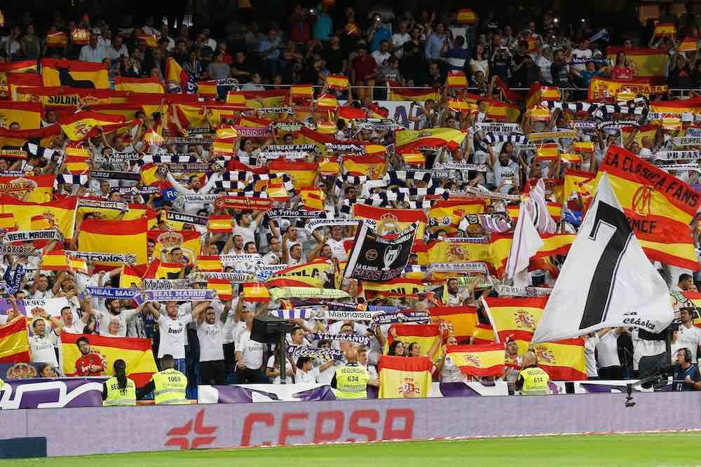 Real MAdrid Spanish flags