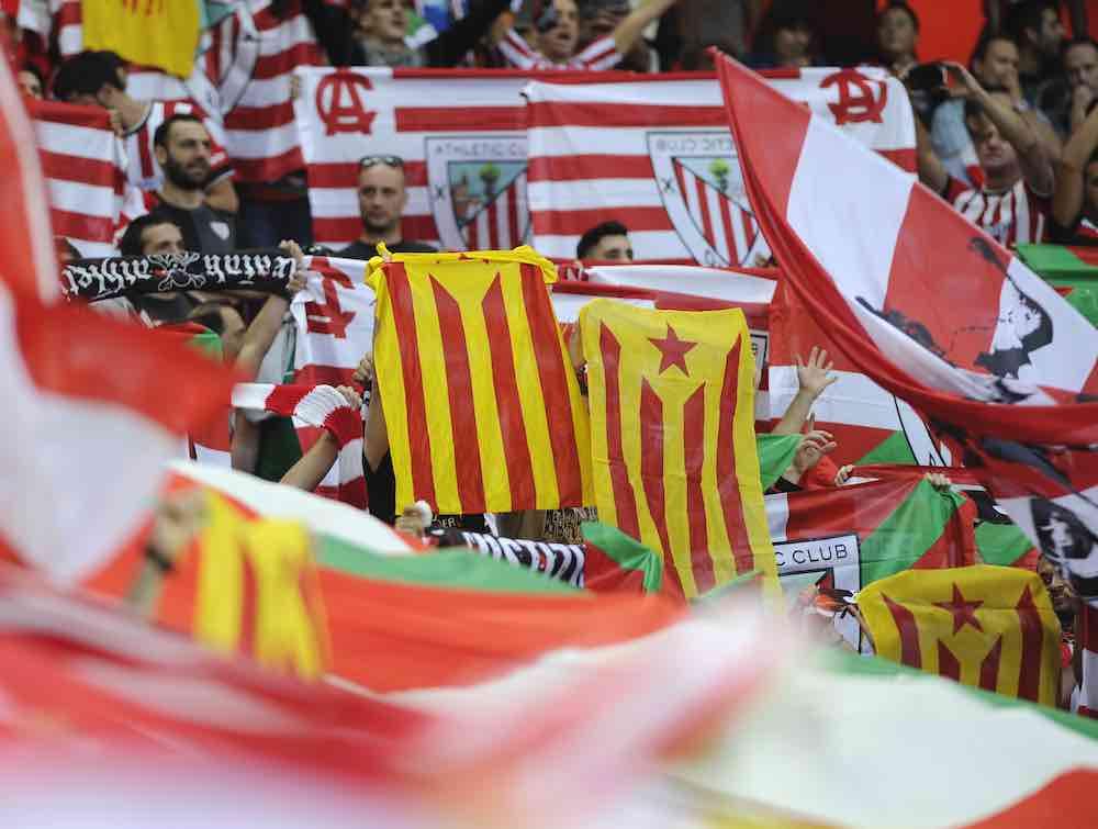 Catalan Flags Bilbao Basque