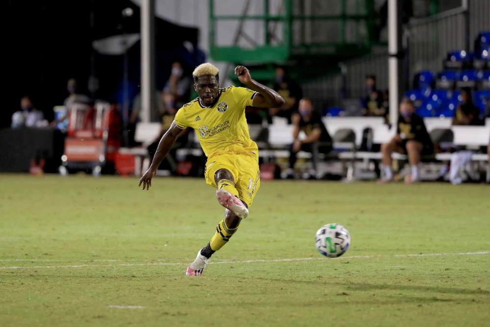 """Columbus 2-0 RBNY: """"Unstoppable"""" Zardes Fires Crew Into MLS Is Back Knockout Rounds"""