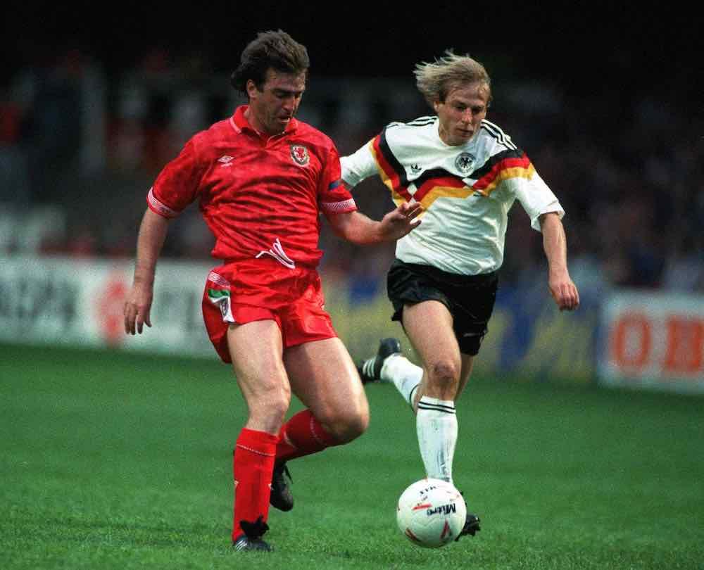 Kevin ratcliffe Jurgen Klinsmann Wales West Germany