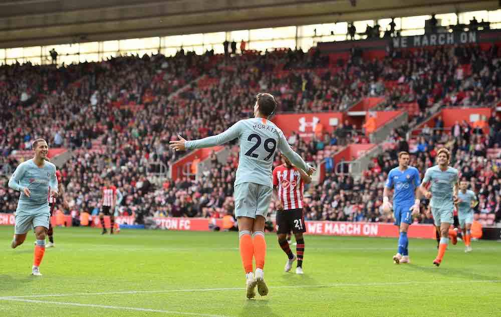 Morata Celebrates Hazard Chelsea 2018