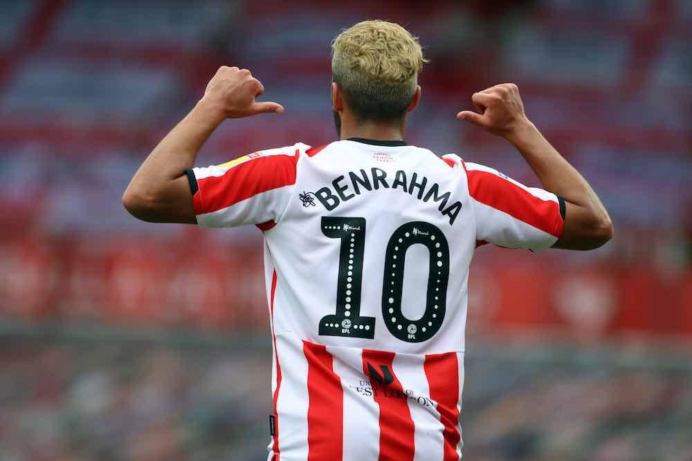 Said Benrahma Brentford shirt