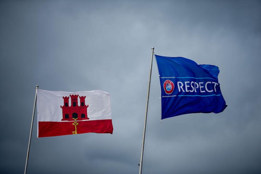 Gibraltar flag UEFA