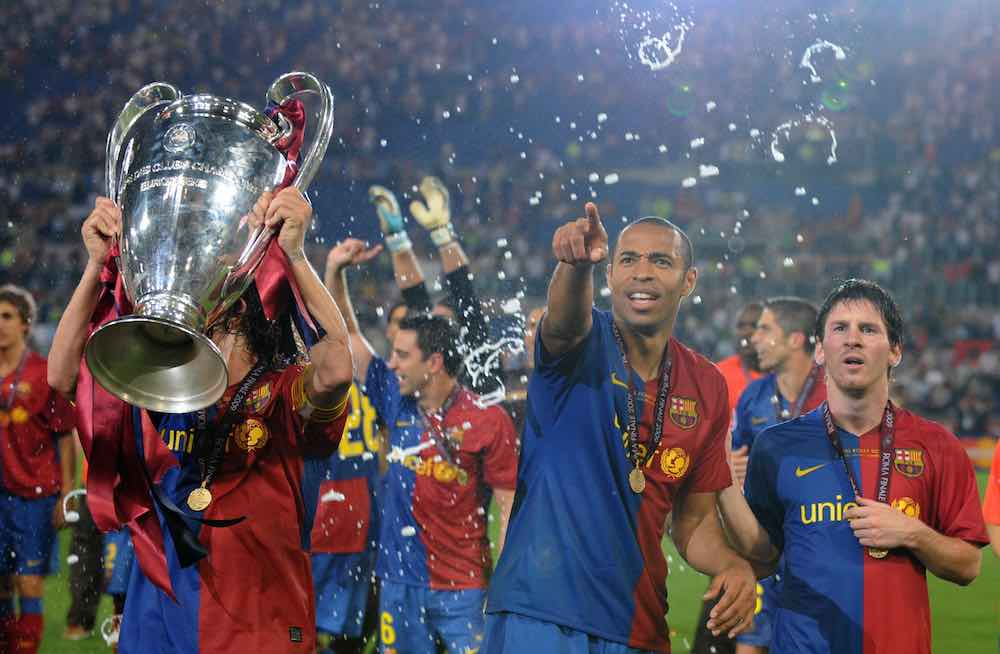 Messi Henry Barcelona 2009 Champions League