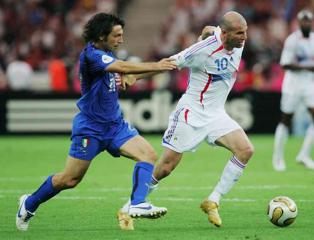 Pirlo Zidane Italy France 2006 World Cup