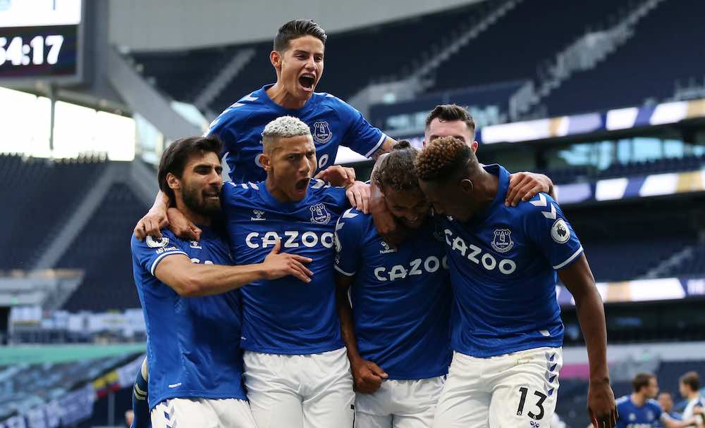 Everton James Rodriguez celebrates