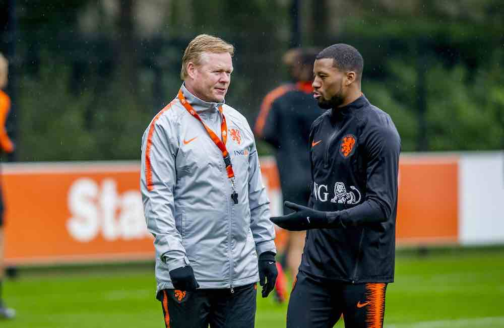 Koeman Wijnaldum Netherlands Training
