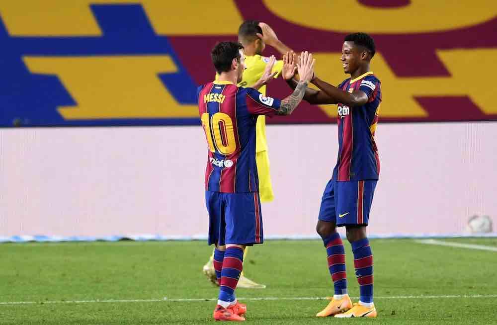 Lionel Messi Ansu Fati Barcelona