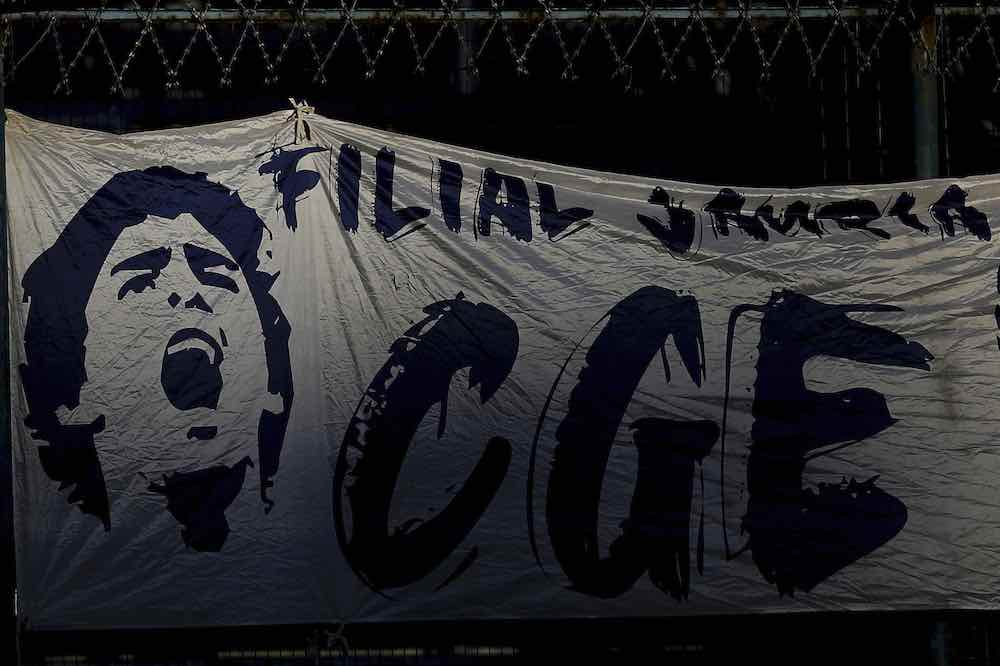 Maradona Gimnasia Banner