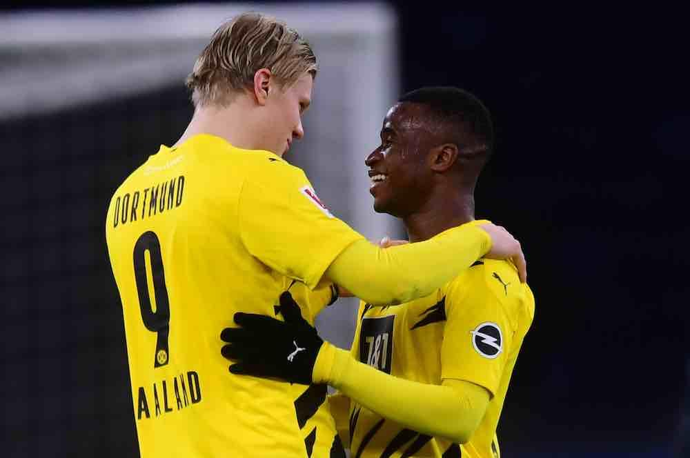 Haaland Moukoko Dortmund