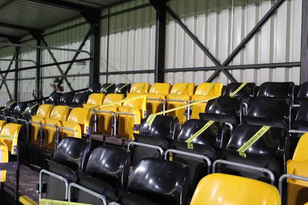 Leamington FC no fans seats