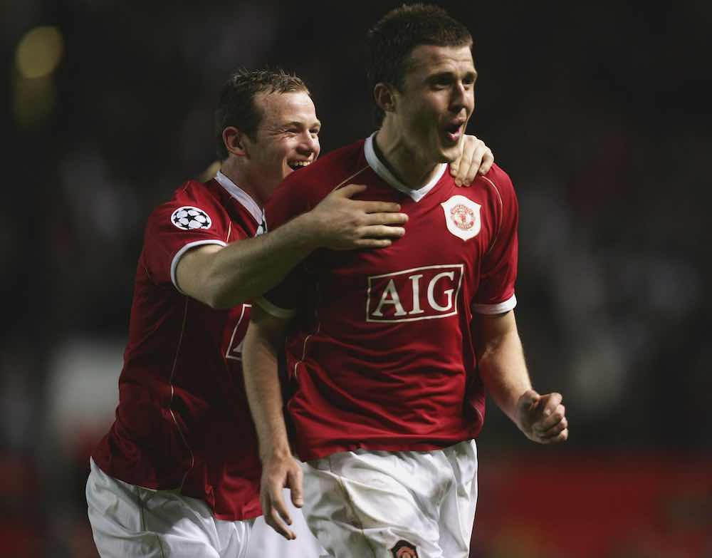 Rooney Carrick Man United Roma 2007