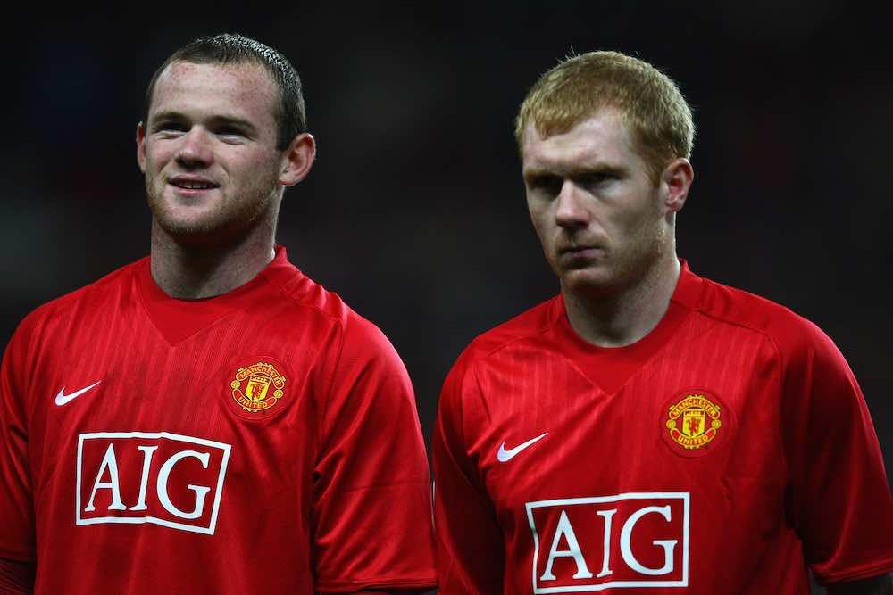 Scholes Rooney Man United Roma 2007