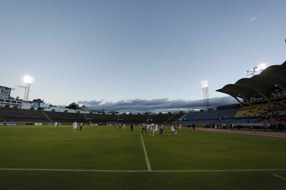 Atahulapa stadium in Quito Ecuador Catolica