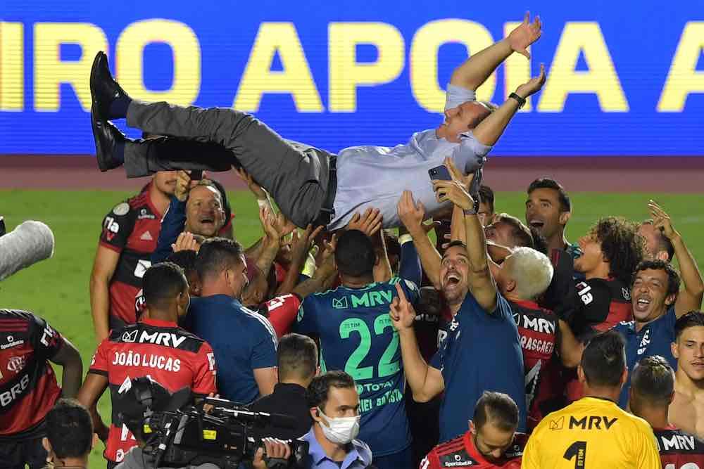 Rogerio Ceni Flamengo Ceni Brazil title celebrations